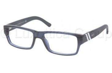 Polo PH2085 Single Vision Prescription Eyeglasses 5276-5216 - Dark Blue Transparent Frame