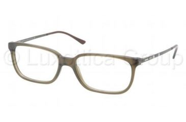 Polo PH2087 Single Vision Prescription Eyeglasses 5232-5216 - Matte Olive Frame, Demo Lens Lenses