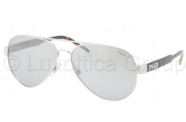 Polo PH3056 Progressive Prescription Sunglasses PH3056-90018V-6014 - Lens Diameter 60 mm, Frame Color Silver