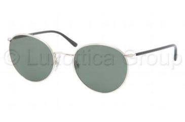 Polo PH3057M Sunglasses 900171-5120 - Shiny Silver Frame, Green Lenses