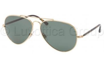 Polo PH3058 Single Vision Prescription Sunglasses PH3058-900471-5814 - Lens Diameter 58 mm, Frame Color Shiny Gold