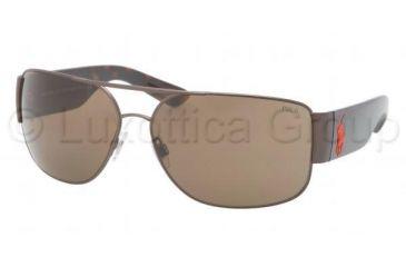 Polo PH3072 Sunglasses 901173-6614 - Matte Bronze Frame, Brown Lenses
