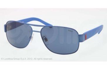 Polo PH3080 Sunglasses 924080-59 - Matte Light Blue Frame, Blue Lenses