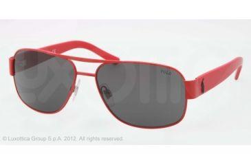 Polo PH3080 Sunglasses 924387-59 - Matte Red Frame, Grey Lenses