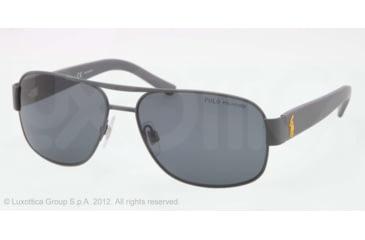 Polo PH3080 Sunglasses 924481-59 - Matte Dark Grey Frame, Polar Gray Lenses