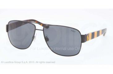 Polo PH3085 Sunglasses 925987-59 - Matte Navy Blue Frame, Dark Blue Lenses
