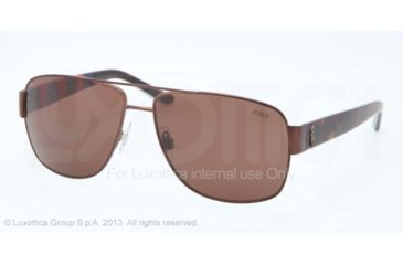 Polo PH3085 Sunglasses 926273-59 - Matte Brown Frame, Brown Lenses
