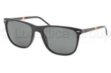 Polo PH4064 Single Vision Prescription Sunglasses PH4064-500187-5418 - Lens Diameter 54 mm, Frame Color Shiny Black