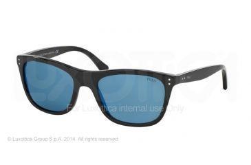 Polo PH4071 Sunglasses 500155-55 - Black Frame, Multilayer Blue Lenses