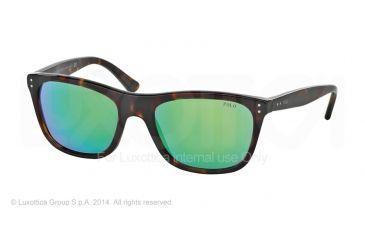 Polo PH4071 Sunglasses 50033R-55 - Dark Havana Frame, Multilayer Green Lenses