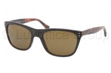 Polo PH4071 Sunglasses 538373-5519 - Top Black On Havana Frame, Jerr Brown Lenses