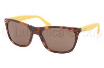 Polo PH4071 Sunglasses 540573-5519 - Havana JC Vintage Effect Frame, Brown Lenses