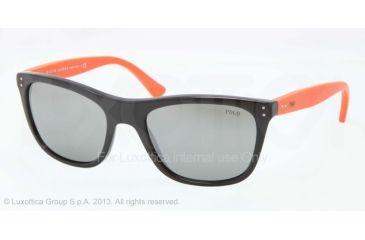 Polo PH4071 Sunglasses 54536G-55 - Black Frame, Green Mirror Silver Lenses