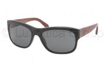 Polo PH4072 Sunglasses 539887-5718 - Shiny Black Frame, Grey Lenses