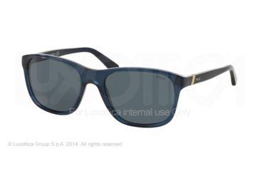 9ed1dce47c1f Polo PH4085 Sunglasses 527687-55 - Trasparent Blue Frame, Grey-blue Lenses