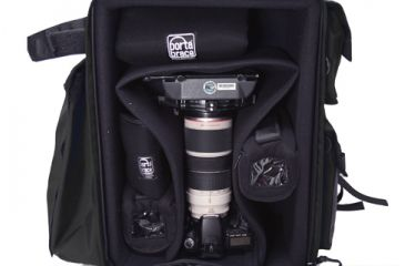 Porta Brace DSLR Backpack Camera Case - Open