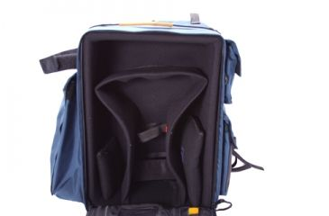 Porta Brace DSLR Backpack Camera Case Open