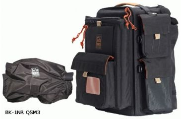 Porta Brace Small Backpack Camera Case w/ Quick Slick Mini-Rain Slicker,Black/Red BK-1NRQS-M3