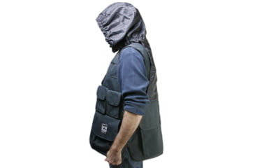 Porta Brace Video Vest, w/Hood,Medium 38-40in - Black VV-MBLH