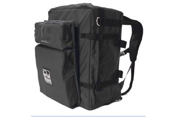 PortaBrace BK-3BLC Large Modular Backpack Camera Case with Standard Straps and 2-Pocket Module - Black