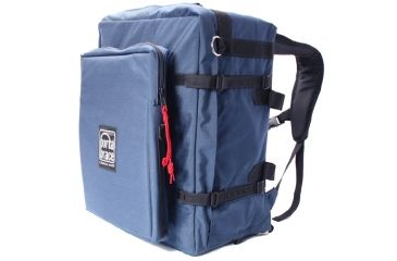 PortaBrace BK-3LCL Modular Backpack Camera Case, Large, with Laptop Module and Standard Straps - Blue