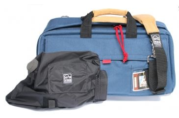 PortaBrace CS-DV3RQS-M2 Medium CompactHD Camera Case - Blue - with Quick Slick rain slicker