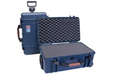 PortaBrace PB-2550F Wheeled Superlite Vault Hard Case with Foam (Blue)