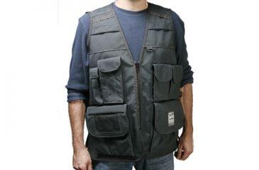 PortaBrace Large Video Vest with Rain Hood - Black