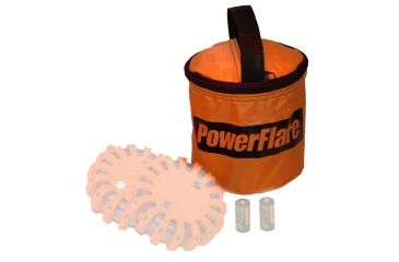 Powerflare Carry Bag for PF-200 Safety Lights - Holds up to 2 Units, Orange BAG2-O