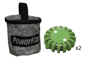 Powerflare PF-200 Softpack,  2 Safety Lights,Infrared LED,ACU Bag,2 Batteries, Olive Drab Shell SP2ACU-I-OD