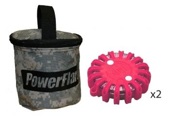 Powerflare PF-200 Softpack,  2 Safety Lights,Infrared LED,ACU Bag,2 Batteries, Hot Pink Shell SP2ACU-I-HP