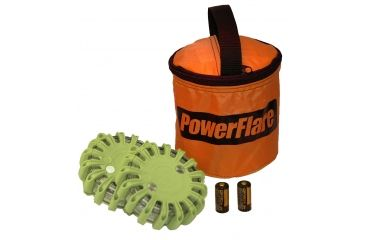 Powerflare PF-200 Softpack,  2 Safety Lights,Infrared LED,Orange Bag,2 Batteries, Olive Drab Shell SP2O-I-OD