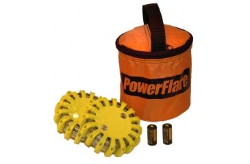 Powerflare PF-200 Softpack,  2 Safety Lights,Infrared LED,Orange Bag,2 Batteries, Yellow Shell SP2O-I-Y