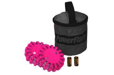 Powerflare PF-200 Softpack,  2 Safety Lights,Infrared LED,Black Bag,2 Batteries, Hot Pink Shell SP2BK-I-HP