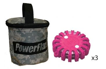 Powerflare PF-200 Softpack,  3 Safety Lights,Infrared LED,ACU Bag,3 Batteries, Hot Pink Shell SP3ACU-I-HP