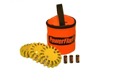 Powerflare PF-200 Softpack,  3 Safety Lights,Infrared LED,Orange Bag,3 Batteries, Yellow Shell SP3O-I-Y