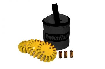 Powerflare PF-200 Softpack,  3 Safety Lights,Infrared LED,Black Bag,3 Batteries, Yellow Shell SP3BK-I-Y