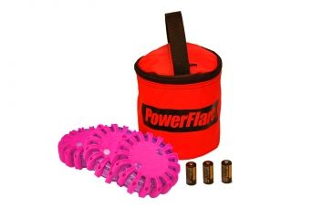 Powerflare PF-200 Softpack,  3 Safety Lights,Infrared LED,Red Bag,3 Batteries, Hot Pink Shell SP3R-I-HP