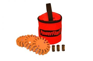 Powerflare PF-200 Softpack,  3 Safety Lights,Infrared LED,Red Bag,3 Batteries, Orange Shell SP3R-I-O