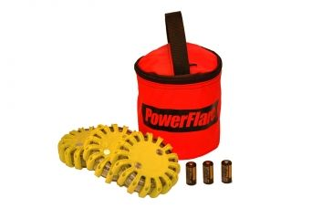 Powerflare PF-200 Softpack,  3 Safety Lights,Infrared LED,Red Bag,3 Batteries, Yellow Shell SP3R-I-Y
