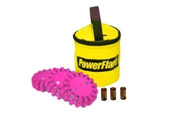 Powerflare PF-200 Softpack,  3 Safety Lights,Infrared LED,Yellow Bag,3 Batteries, Hot Pink Shell SP3Y-I-HP
