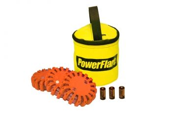 Powerflare PF-200 Softpack,  3 Safety Lights,Infrared LED,Yellow Bag,3 Batteries, Orange Shell SP3Y-I-O