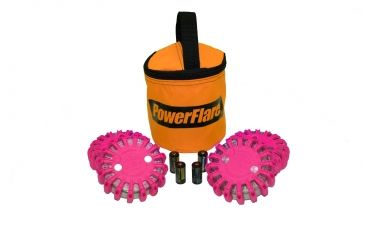 Powerflare PF-200 Softpack,  4 Safety Lights,Infrared LED,Orange Bag,6 Batteries, Hot Pink Shell SP6O-I-HP