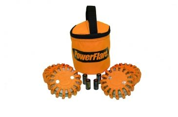 Powerflare PF-200 Softpack,  4 Safety Lights,Infrared LED,Orange Bag,6 Batteries, Orange Shell SP6O-I-O