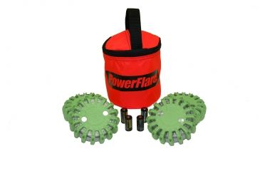 Powerflare PF-200 Softpack,  4 Safety Lights,Infrared LED,Red Bag,6 Batteries, Olive Drab Shell SP6R-I-OD
