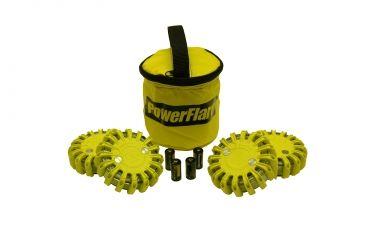 Powerflare PF-200 Softpack,  4 Safety Lights,Infrared LED,Yellow Bag,6 Batteries, Yellow Shell SP6Y-I-Y