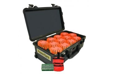 Powerflare PF-200 Incident Command Pack - 60 Lights,Amber LED,Black Case,60 Batteries, Orange Shell PFPACK60BK-A-O