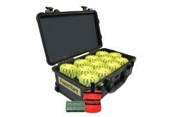 Powerflare PF-200 Incident Command Pack - 60 Lights,Infrared LED,Black Case,60 Batteries, Yellow Shell PFPACK60BK-I-Y