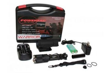 PowerTac Warrior Rechargeable LED Flashlight 650 Lumens, Black