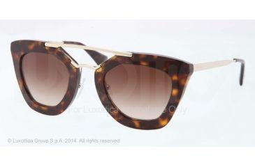 Prada CINEMA' PR09QS Single Vision Prescription Sunglasses PR09QS-2AU6S1-49 - Lens Diameter 49 mm, Frame Color Havana